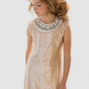 Joyfolie Rose Gold Sequins Dress NEW WITH TAGS